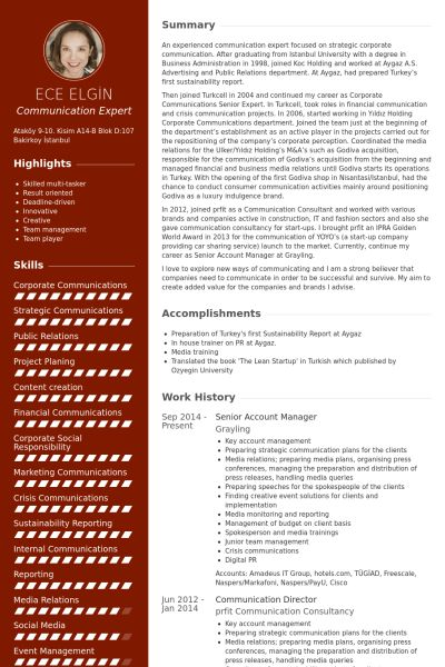 Senior Account Manager Resume samples - VisualCV resume samples ...