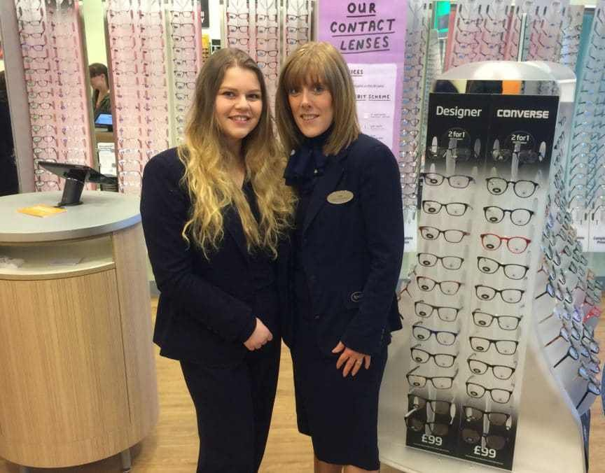 Sixth form drop-out finds her way as optical assistant apprentice ...