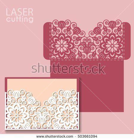 Vector Die Laser Cut Envelope Template Stock Vector 592226918 ...