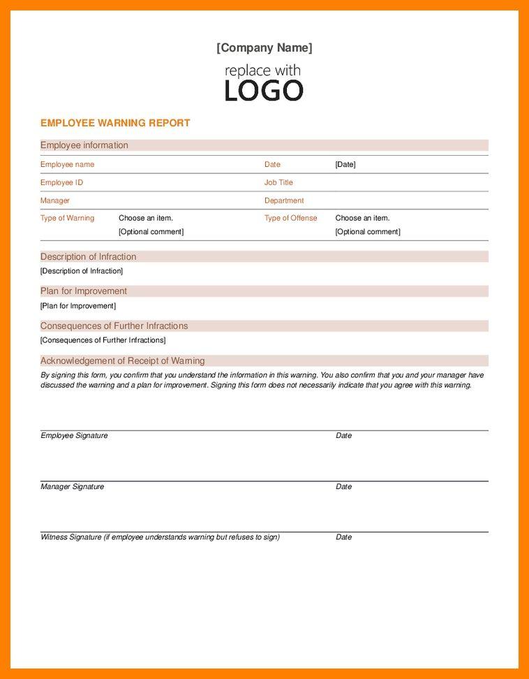 10+ employment warning template | attendance sheet