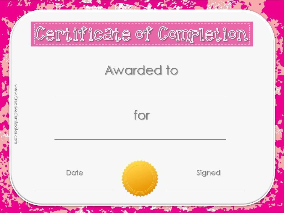 Free Templates For Certificates Of Completion, best 25+ ...