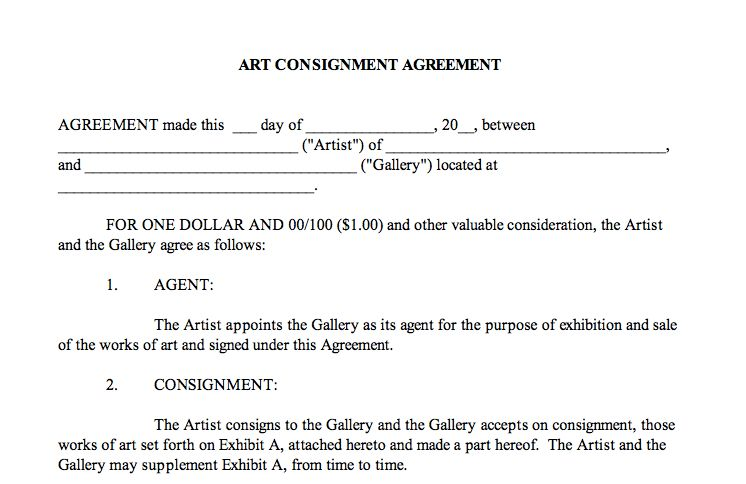 It Takes Two to Tango: The Importance of Artist-Gallery Contracts ...