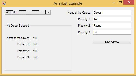 Windows 8 Storing and Fetching Objects from an ArrayList (C ...