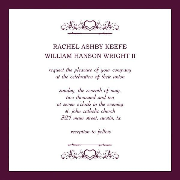 Free Printable Wedding Invitation Templates | ... invitation ...