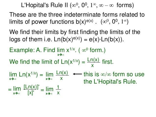 12 l'hopital rule ii