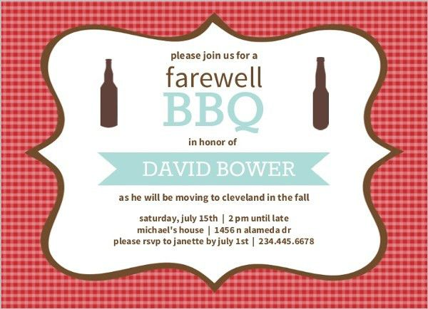 Cheap Going Away Invitations | Invite Shop
