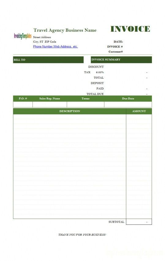 Travel Invoices. Travel Invoice Templates – 8+ Free Word, Excel ...