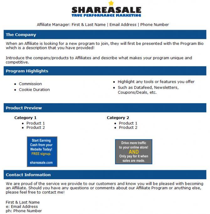 Create Your Own HTML Program Bio - ShareASale Blog