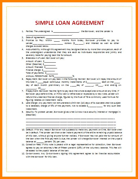9+ loan agreements templates free | barber resume