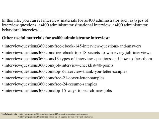 Top 10 as400 administrator interview questions and answers