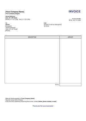 Simple Invoice Template For Word Invoice Template Gallery - Resume ...