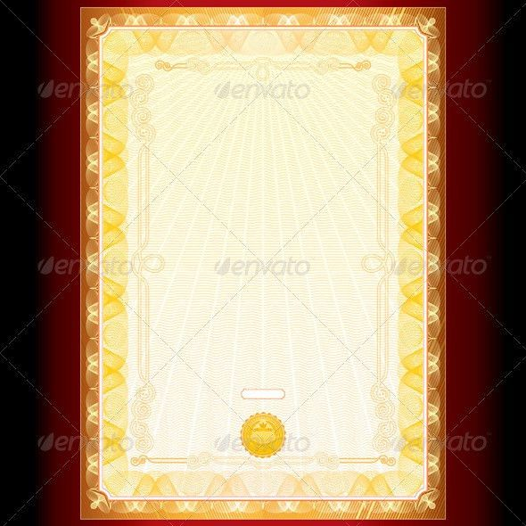 Royal Golden Diploma Background ... announcement, award, blank ...