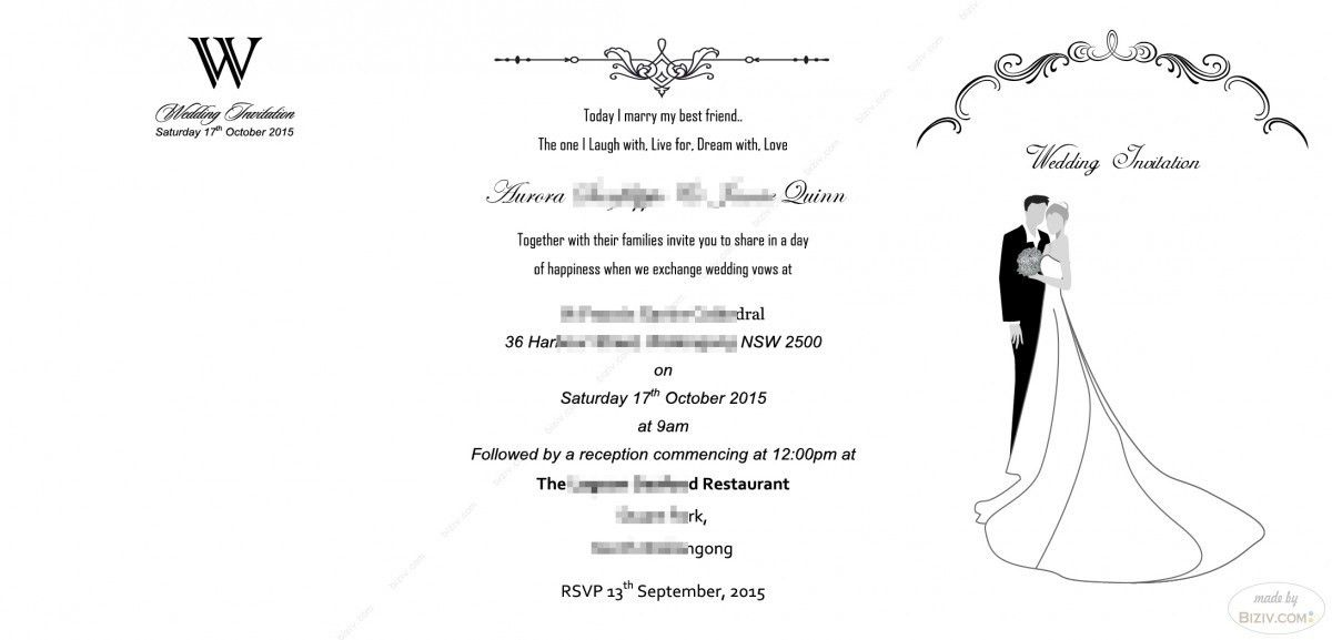 free wedding invitation templates-Biziv promotional products