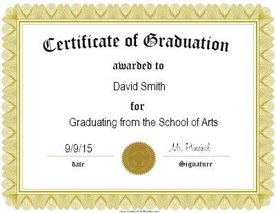 Graduation Certificate Templates | Certificate Templates