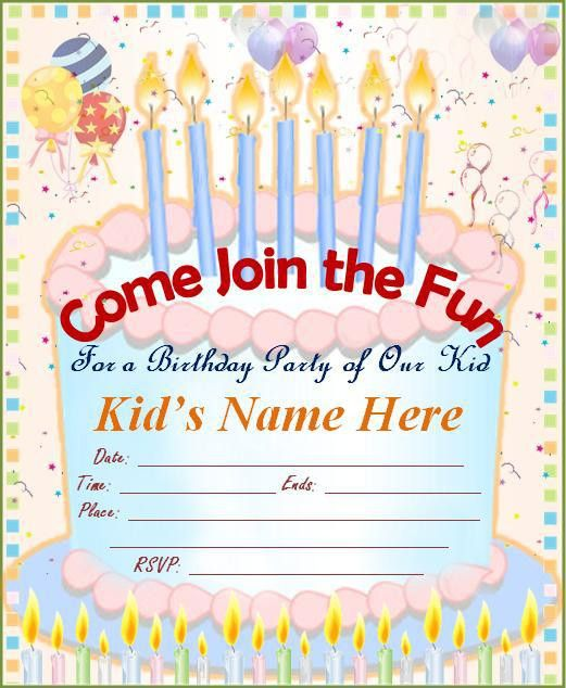 how to make invitation cards for birthday make your own birthday ...
