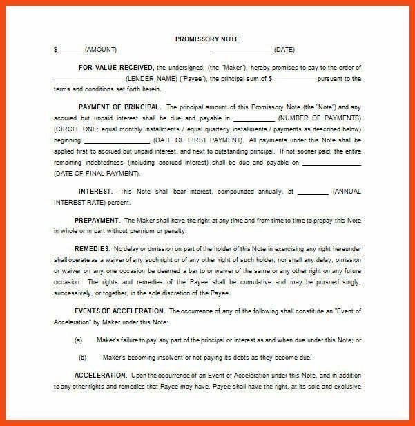 promissory note template | program format