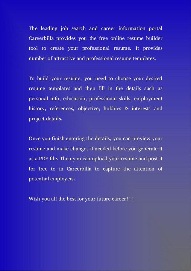 gallery of 7 resume builder recommended resume builder free ...