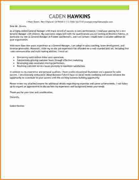11+ general manager cover letter | Invoice Template Download