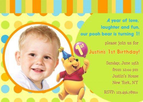 Card Invitation Design Ideas: Winnie The Pooh First Birthday ...