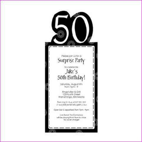 Birthday Invitation Templates Word Free Invitation Birthday – Words for 50th Birthday Invitation