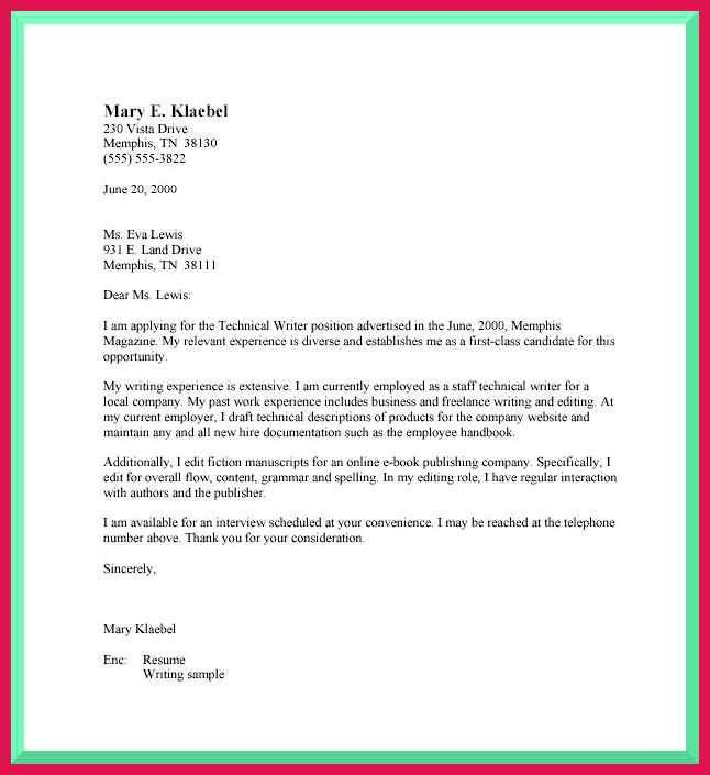 business cover letter format | sop examples