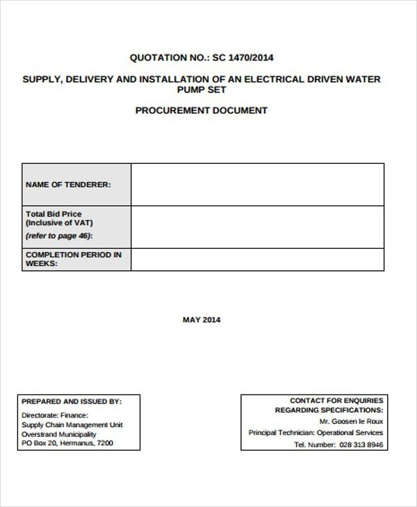 Quotation Format. Philmech Gov Ph Details File Format 28+ ...