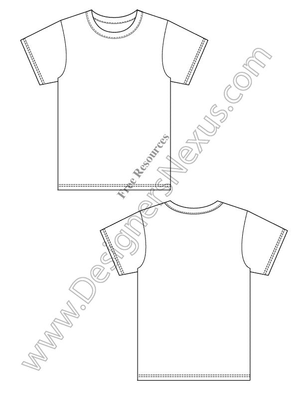 sample of T-shirt flat drawings. | Crafts for kids | Pinterest ...