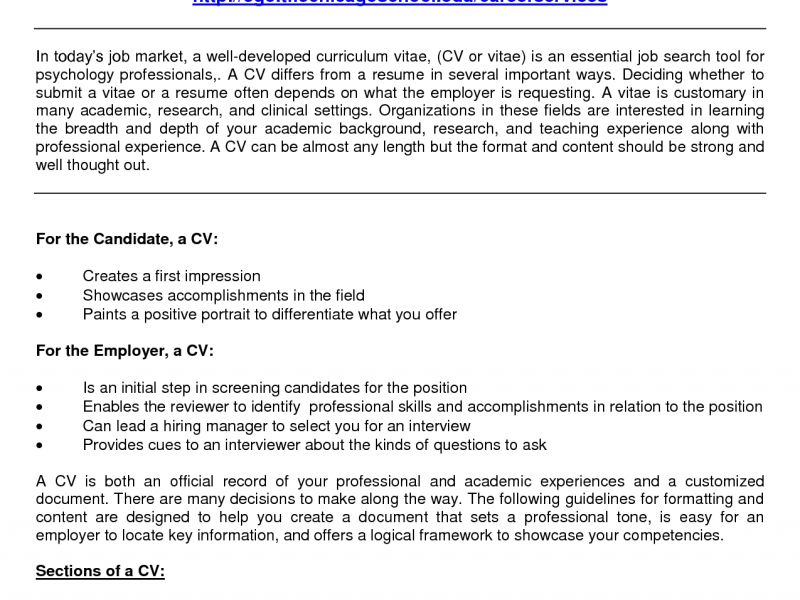 Sample Psychology Resume Sample Resume For Psychology Majors Free