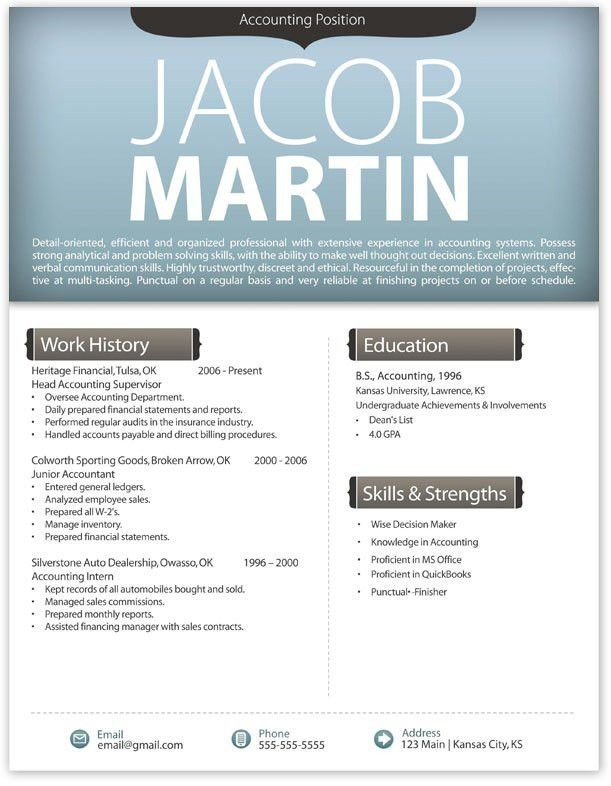 Resume Examples. Resume Templates Modern Pages Free Download ...