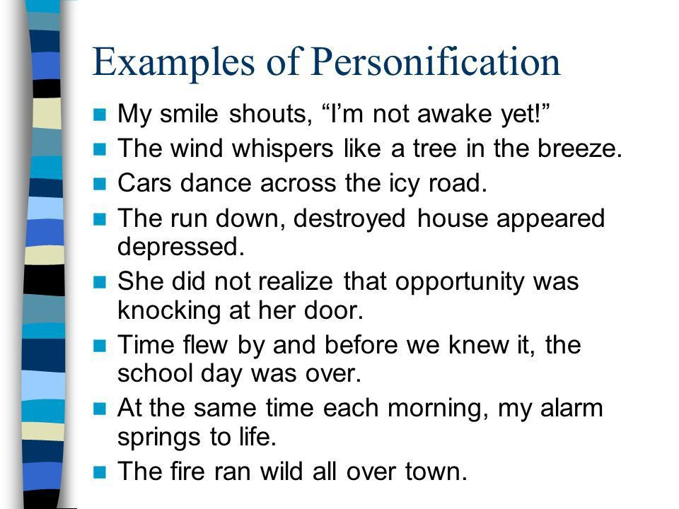 Personification What word do you notice inside personification ...