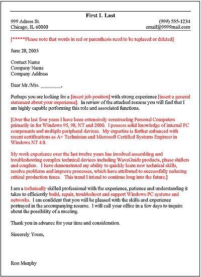 writing a good cover letter mis executive cover letter cover ...