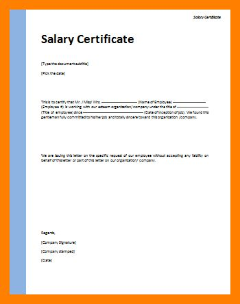 6+ certificate of employment sample with salary | fancy-resume