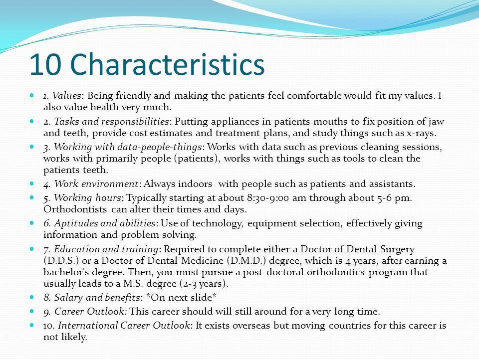 Job Description A type of dentistry dealing with tooth ...