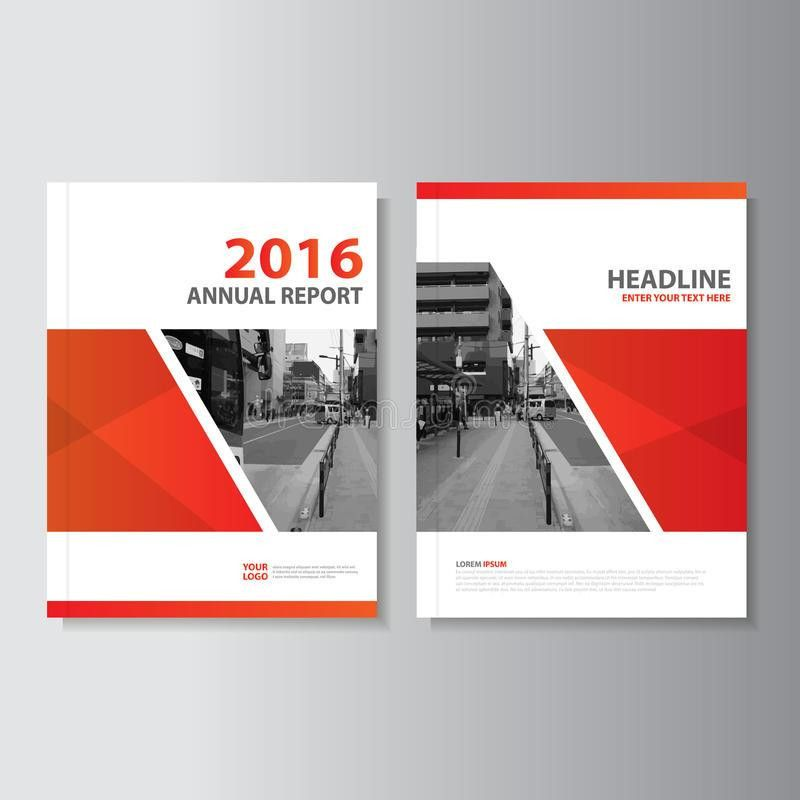 Red Vector Annual Report Magazine Leaflet Brochure Flyer Template ...