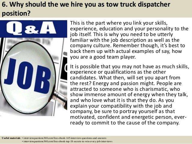 dispatcher interview questions