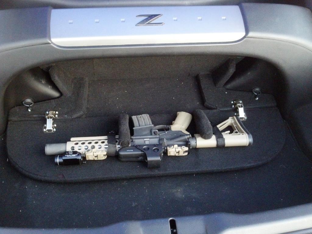 hidden gun storage car console vault vehicle safe