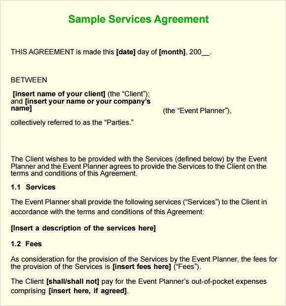Services Agreement Template 14 Service Agreement Templates Free – Sample Service Agreement
