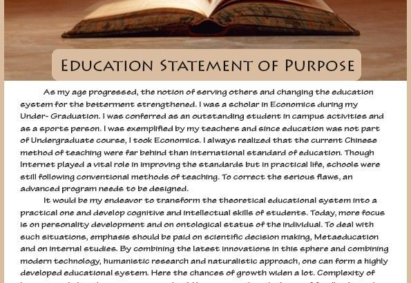 How best sample statement of purpose education is written ...