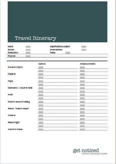 10 Best Images of Exec Travel Itinerary Template Word - Trip ...