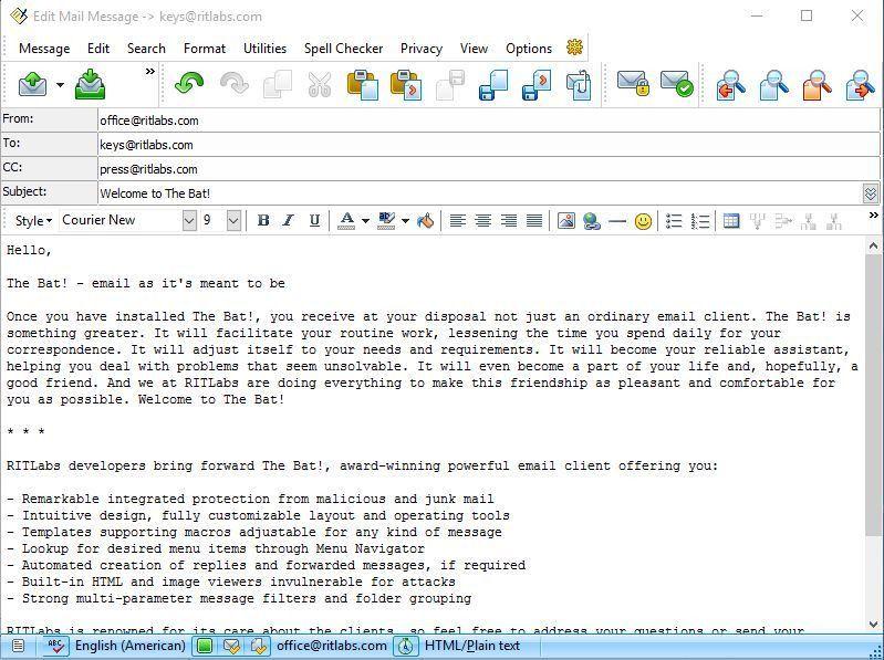 The Bat! - Secure Desktop Email Client for Windows 10