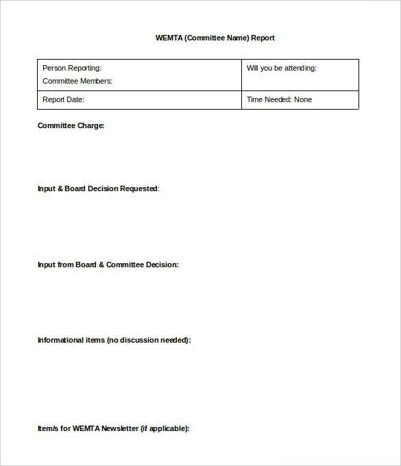 13+ Board Report Templates - Free Sample, Example Format Download ...