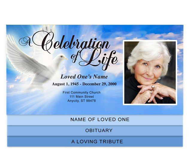 Graduated Style Funeral Programs | Graduated Offset Programs