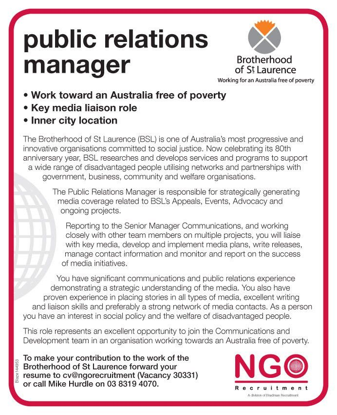 NGO Recruitment Communications and Media - NGO Recruitment