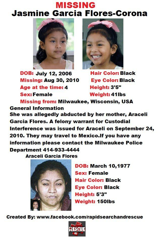 Current Missing Person flyers from Wisconsin in the 2010s To ...