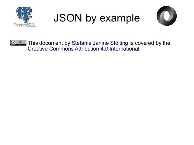 JSON By Example