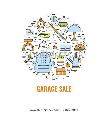 Yard Sale Sign Template Poster Banner Stock Vector 602169851 ...