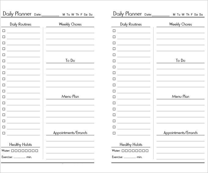 Daily Itinerary Template - 4 Free Word, Excel, PDF Documents ...