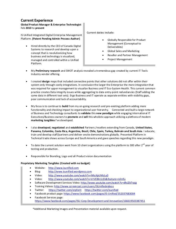 product manager enterprise analytics resume samples. product ...