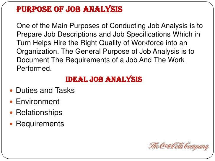 Coca cola Job Analysis