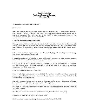 Property Manager Job Description. Auto Service Technician Job ...
